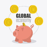 Global economy, money and business Stock Images
