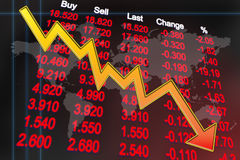 Global economy recession Stock Images