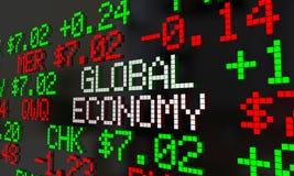 Global Economy Stock Market Ticker Trading Royalty Free Stock Photo