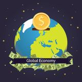 Global economy world savings vector illustration design. Global investment. Royalty Free Stock Photography