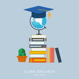 Global Education Concept. Trends and innovation in education. Ve Royalty Free Stock Photos