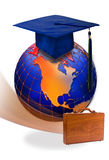 Global education & graduation Stock Image