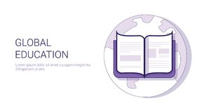 Global Education Learing Online Business Concept Template Web Banner With Copy Space Stock Image