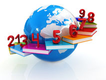 Global Education and numbers Stock Photo