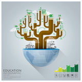Global Education With Tree Diagram Creative Concept Infographic Royalty Free Stock Images