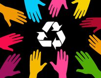 Global effort to recycle Royalty Free Stock Photography