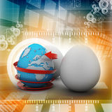 Global egg rounded with arrow Royalty Free Stock Image