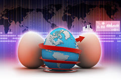 Global egg rounded with arrow Stock Images