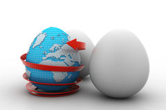 Global egg rounded with arrow Royalty Free Stock Photo