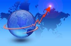 global ekonomi Arkivbild