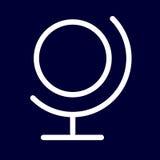 Global eller planetsymbol av vita översikter för uppsättning Royaltyfri Foto