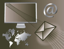Global Email Icons Royalty Free Stock Photo
