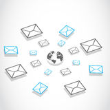 Global email messaging system Royalty Free Stock Photo