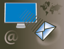 Global email service Stock Images