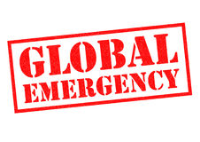 GLOBAL EMERGENCY Rubber Stamp Royalty Free Stock Photo
