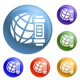 Global energy icons set vector royalty free illustration