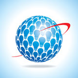 Global energy idea. Saving energy icon with light bulb and planet Earth Royalty Free Stock Images