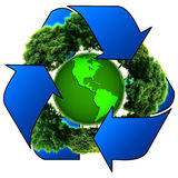 Global environmental recycling Stock Photo