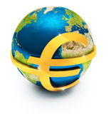 Global euro currency Stock Photo