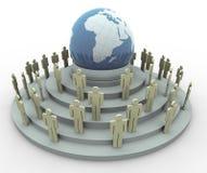 global by för begrepp 3d Arkivbild