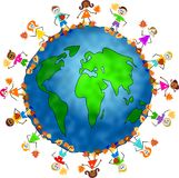 Global fall kids stock illustration