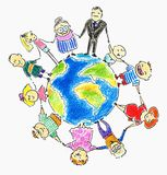 Global family Royalty Free Stock Images