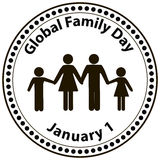 Global Family Day Royalty Free Stock Photo