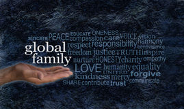 Global Family word cloud campaign banner Royalty Free Stock Photography