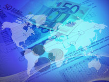Global finance. With rising trend Stock Photography