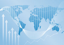 Global finance. Illustration of Global finance background Stock Photo