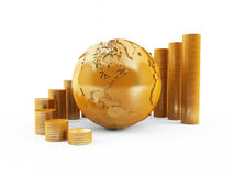 GLobal finance. 3D rendering of a global financial concept Royalty Free Stock Photography