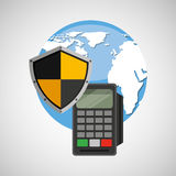 Global finance banking safe shield protection Royalty Free Stock Photography