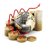 Global finance chart. On white background Royalty Free Stock Images