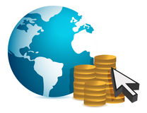 Global finance concept illustration design. Over white background Royalty Free Stock Images