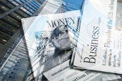 Global finance. Globe newspaper global business business finance the future Stock Image