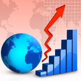 Global Finance Graph Stock Photo