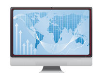 Global finance on screen Stock Images