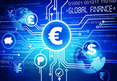 Global Financial Concept with Currency Symbols Royalty Free Stock Photography