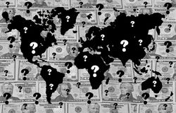 Global financial crisis. Questions raised and uncertainty caused by global financial crisis Royalty Free Stock Photography