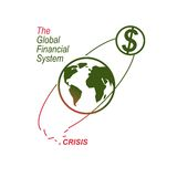 Global Financial Crisis conceptual logo, unique vector symbol. B. Anking system. The Global Financial System. Circulation of Money Stock Image
