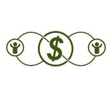 The Global Financial System conceptual logo, unique vector symbo Stock Photo