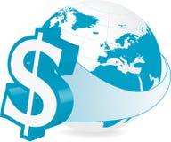 Global finans - dollar Royaltyfri Illustrationer