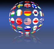 Global flags Royalty Free Stock Photos