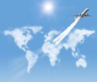 Global flight Stock Photo