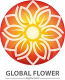 Global flower Lotus or lily Royalty Free Stock Photos