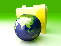 Global Folder - Asia Royalty Free Stock Images