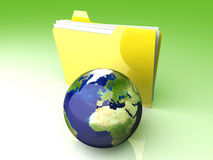 Global Folder - Europe Stock Image