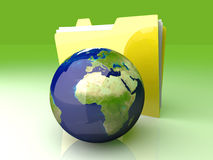 Global Folder - Europe Royalty Free Stock Images