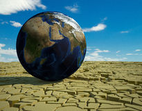 Global food crisis and drought warning. 3d high quality rendering Royalty Free Stock Image