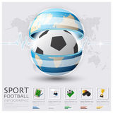 Global Football And Sport Infographic. Design Template Stock Photo